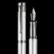 WALDMANN Tango 925 Sterling ezüst töltőtoll hálómintával és rhutenium bevonattal, díszdobozban