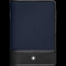 MONTBLANC Nightflight bőr kártyatartó, kék, díszdobozban