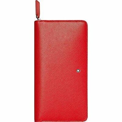 MONTBLANC Sartorial bőr tárca 8cc, piros, díszdobozban