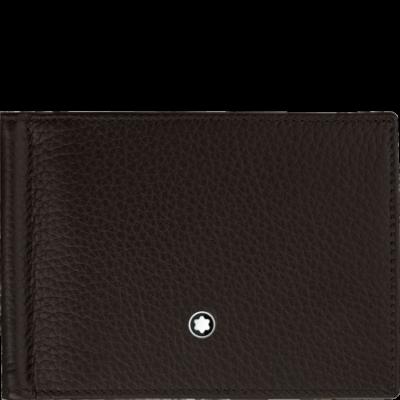 MONTBLANC Meisterstück Soft Grain bőr tárca 6cc, pénzcsipesszel, barna, díszdobozban