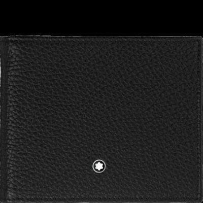 MONTBLANC Meisterstück Soft Grain bőr tárca 9cc, fekete, díszdobozban