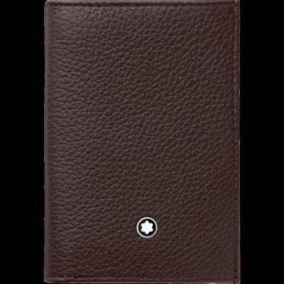 MONTBLANC Meisterstück Soft Grain bőr kártyatartó, barna, díszdobozban