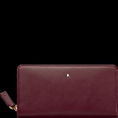 MONTBLANC Meisterstück bőr tárca 8cc zip, bordó, díszdobozban
