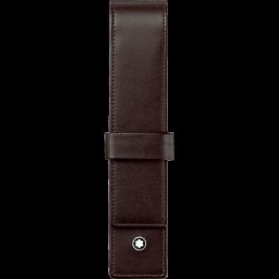 MONTBLANC Meisterstück barna bőr tolltartó, 1 tollhoz, díszdobozban