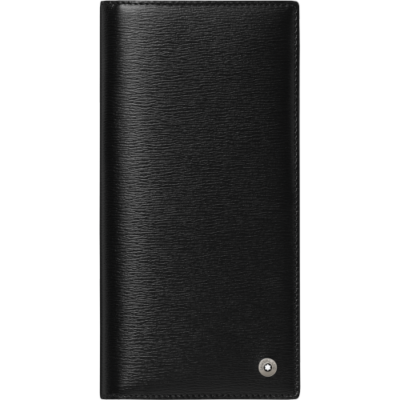 MONTBLANC Westside 6cc zipzáras tárca, fekete, díszdobozban
