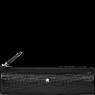 MONTBLANC zizáras bőr tolltartó, 1 tollhoz, díszdobozban