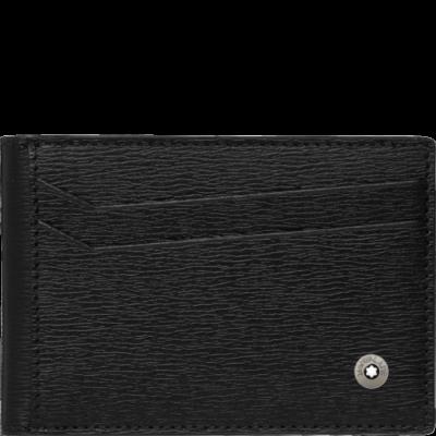 MONTBLANC Westside bőr tárca 8cc, fekete, díszdobozban