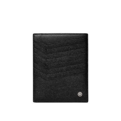 MONTBLANC Westside bőr kártyatartó 8cc, fekete, díszdobozban