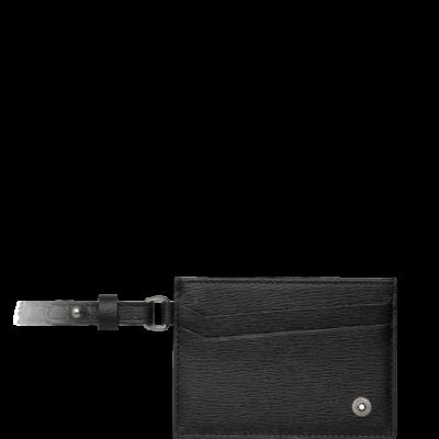 MONTBLANC Westside bőr kártyatartó, fekete, díszdobozban