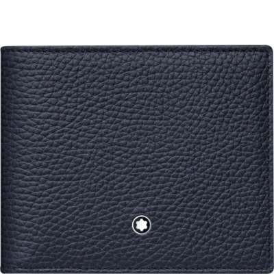 MONTBLANC Meisterstück Soft Grain bőr tárca 6cc, kék, díszdobozban