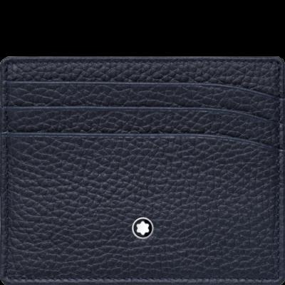 MONTBLANC Meisterstück Soft Grain bőr kártyatartó 6cc, kék, díszdobozban