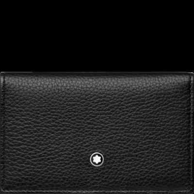 MONTBLANC MST Soft Grain fekete bőr kártyatartó, díszdobozban