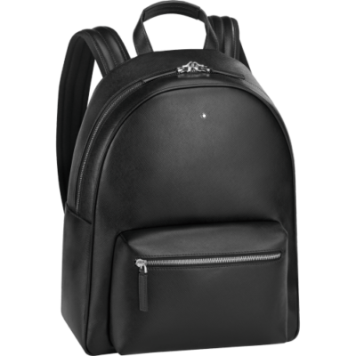 MONTBLANC Sartorial bőr hátizsák, fekete