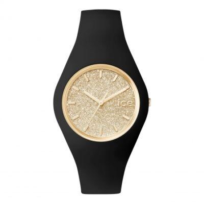 Ice Watch Glitter fekete/arany, közepes méret, díszdobozban