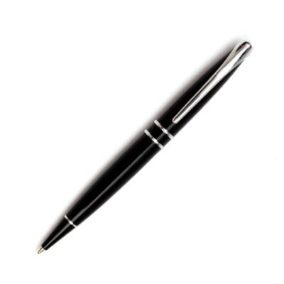CERRUTI Silver Clip fekete golyóstoll, díszdobozban