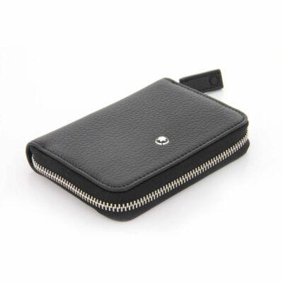 MONTBLANC Meisterstück Soft Grain fekete bőr zipzáras tárca, díszdobozban