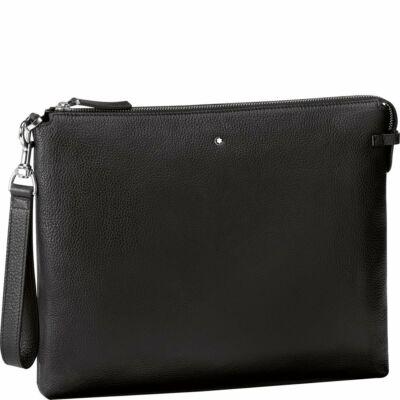 MONTBLANC Meisterstück Soft Grain Clutch Black 320x10x250 mm, fekete bőr