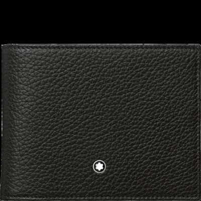 MONTBLANC Meisterstück Soft Grain bőr tárca 6cc, fekete, díszdobozban