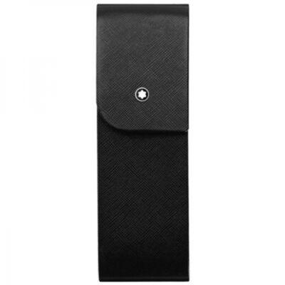 MONTBLANC Sartorial fekete bőr tolltartó, 2 tollhoz, díszdobozban