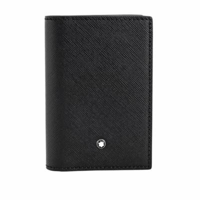 MONTBLANC Sartorial fekete-indigo kártyatartó, díszdobozban