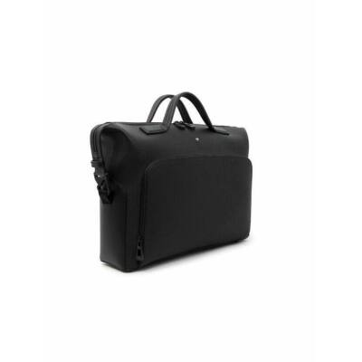 MONTBLANC Extreme 2.0 közepes, fekete carbon mintás bőr dokumentum táska