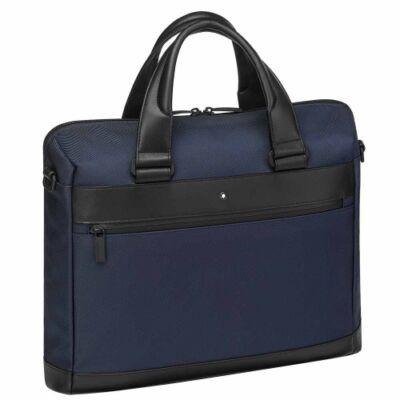 My Montblanc Nightflight Document Case Slim, textilből és bőrből készült táska, laptop rekesszel