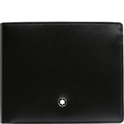 MONTBLANC Meisterstück bőr pénztárca, 6CC+pénzcsipesz