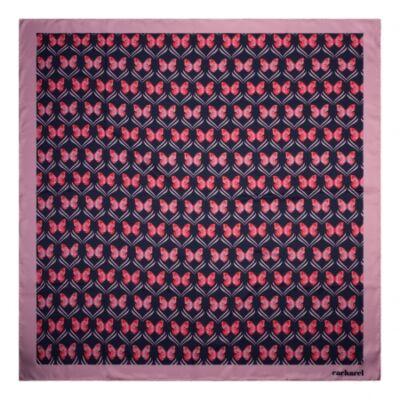 Cacharel Pontia vegan selyem kendő, sötétkék színben (90x90 cm), díszcsomagolásban