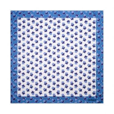 Cacharel Hortense vegan selyem kendő, kék színben (65x65 cm), díszcsomagolásban