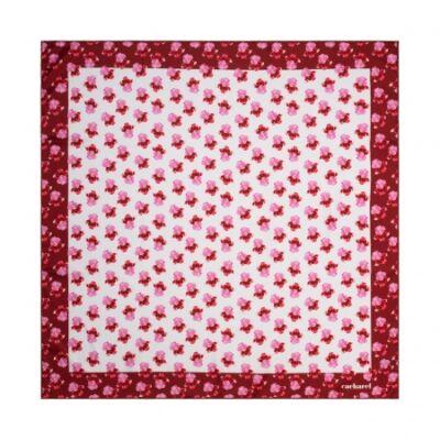 Cacharel Hortense vegan selyem kendő, piros színben (65x65 cm), díszcsomagolásban
