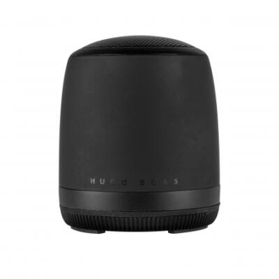 Hugo Boss Gear Matrix fekete bluetooth hangszóró (56,6x66,2 mm), díszdobozban. Kompatibilis minden bluetooth eszközzel.