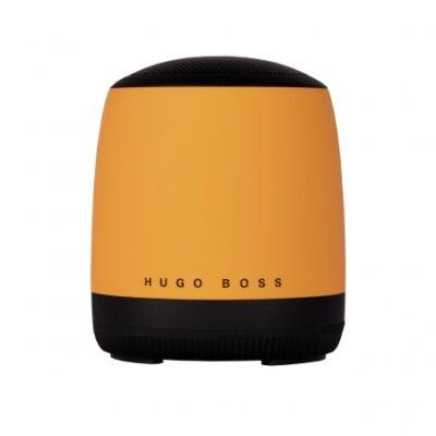 Hugo Boss Gear Matrix sárga bluetooth hangszóró (56,6x66,2 mm), díszdobozban. Kompatibilis minden bluetooth eszközzel.