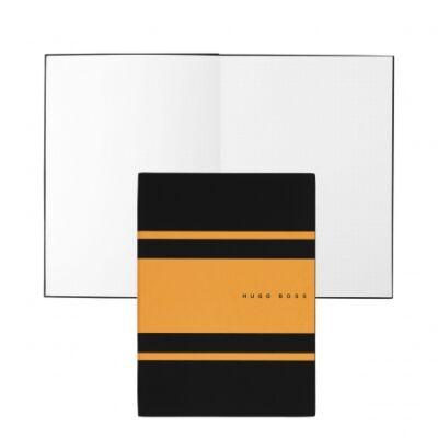 Hugo Boss Gear Matrix fekete/sárga jegyzetfüzet A5