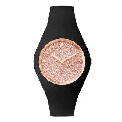Ice Watch Glitter fekete/rose gold, közepes méret, díszdobozban