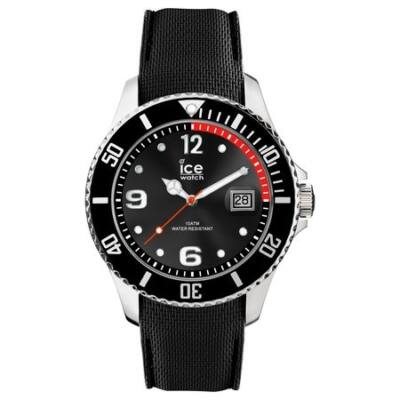 Ice Watch steel fekete karóra, közepes méret, díszdobozban