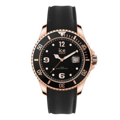 Ice Watch steel Black Rose Gold karóra, nagy méret, díszdobozban