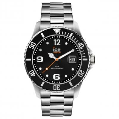 Ice Watch steel Black silver karóra, nagy méret, díszdobozban