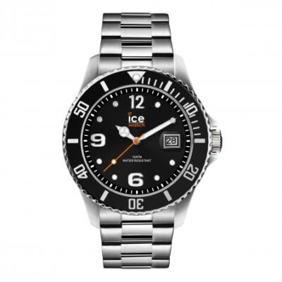 Ice Watch steel Black silver karóra, közepes méret, díszdobozban