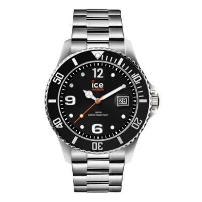 Ice Watch steel Black silver karóra
