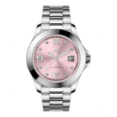 Ice Watch steel Classic Light pink SR Stones karóra, közepes méret, díszdobozban