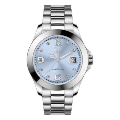 Ice Watch steel Classic Light blue SR Stones karóra, közepes méret, díszdobozban
