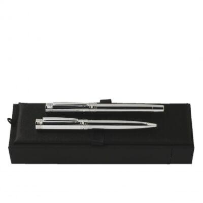 Cerruti Zoom Silver tollkészlet (golyóstoll és rollertoll), díszdobozban