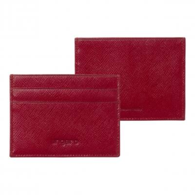 Ungro Cosmo Red bőr kártyatartó, díszdobozban