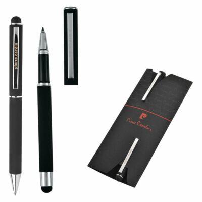 Pierre Cardin Claudie fekete tollkészlet (golyóstoll+rollertoll),papírtasakban